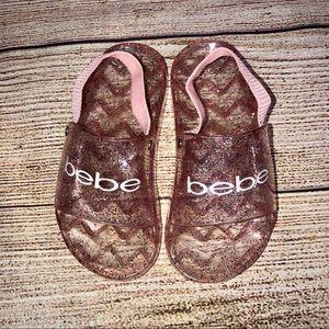 BeBe Toddler Girls Glitter Jelly Sandals